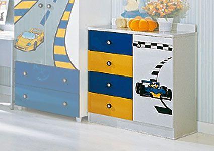 Комод широкий  F1 blue Millli Willi